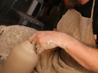 New School Pottery - Throwing Clay in Duval Studio